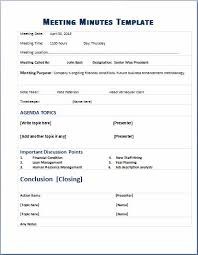 Word Meeting Notes Template Ms Word Meeting Minute Templates Microsoft Word Excel Templates
