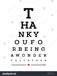 Eye Chart Snellen Wall Word Typography Stock Vector Royalty