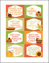 Printable Thanksgiving Cards Thanksgiving Conversation Starters Free Printables Oh My
