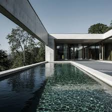 Inflatable Concrete Concrete House By Martemarte Architects Has Pool Facing Rhine Valley