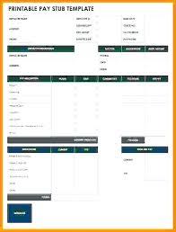 Fake Payroll Check Template 7 Blank Stub Free Paycheck