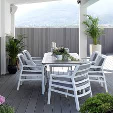 outdoor white furniture. Aria Alloro 7 Piece Outdoor Dining Setting - White \u0026 Taupe | ByDezign Furniture U