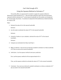 opportunity to explore how estimating using increasingly narrow intervals can be used to find an estimate of it aligns with grade 11 module 3 lesson