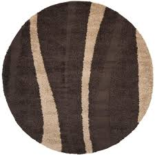 safavieh florida dark brown beige 4 ft x 4 ft round area