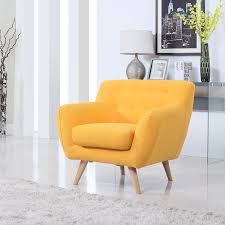 yellow modern accent chairs for living room