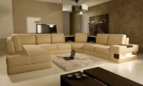 Living Room Colors That Go With Brown Furniture Creamy Brown Sofa With Elegant Look For Living Room In Neutral