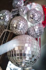 Small Decorative Balls Gorgeous A Group Of Small Decorative Mirror Balls Stock Photo © Stock