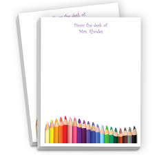 colored pencils personalized notepads personalized teacher appreciation gifts at master teacher awards