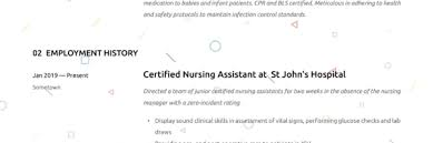 Certified Nursing Assistant Resume Writing Guide 12