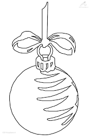 Christmas Ornament Drawing Free Printable Christmas