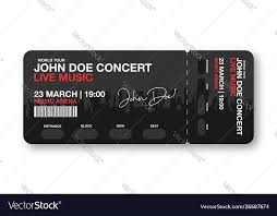 Concert Invite Template Concert Ticket Template Concert Party Disco Or