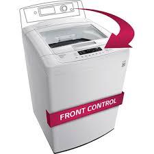 High Efficiency Top Loader Wt1101cw Lg Appliances 41 Cu Ft High Efficiency Top Load Washer