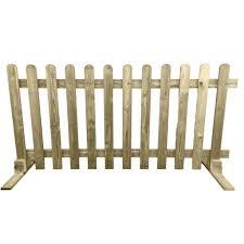wood picket fence panels. Portable Freestanding Treated Wooden 6ft Picket Fence Panel 2ft 3ft Or 4ft High - Ruby UK Wood Panels