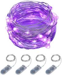 Purple Led Christmas Lights Itart Purple Led String Lights Battery Powered Mini Fairy Lights 20 Led 6ft Thin Wire Rope Lights For Diy Craft Halloween Wedding Party Centerpiece