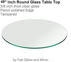 48 inch round glass table