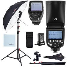 Godox Light Details About Godox V1 Flash Strobe Lighting Kit With Stand Umbrella And Xpro Fujifilm