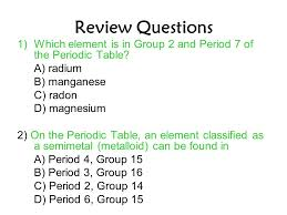 Packet #4 The Periodic Table Reference Table: Periodic Table ...