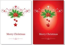 christmas greeting cards vector free