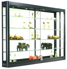 wall mount display cabinet wall mounted glass