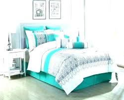 turquoise and grey bedding sets mint c gray teal comforter