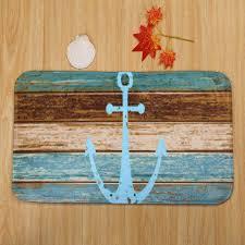 Ounona 3 Teiliges Badezimmer Teppich Set Maritim Anker Vorleger