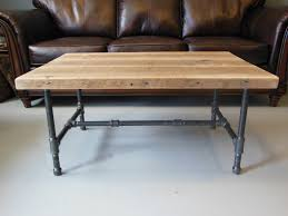 Industrial Pipe Coffee Table Wood And Iron Coffee Tables