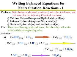 68 writing balanced equations