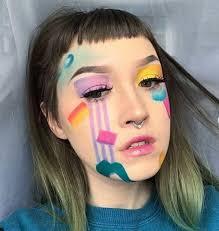 make up crazy rainbow ideas new year pics7