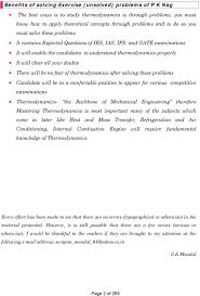 Thermodynamics. Er. S K Mondal. P K Nag Exercise problems - Solved ...