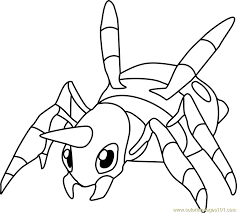 Small Picture Ariados Pokemon Coloring Page Free Pokmon Coloring Pages
