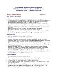 Cool Resume Format Canada 2015 Ideas Professional Resume Example