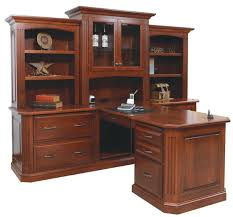 wood desks for home office. Simple And Neat Design Ideas Using L Shaped Brown Wooden Desks Combine Rectangular Wood For Home Office