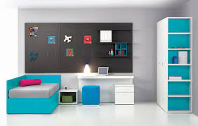 ... Sets Terrific Little Boy Bedroom Ideas With Turquoise Color Laminated  Bedframe Headboard Plus Grey Bedding Sheet ...