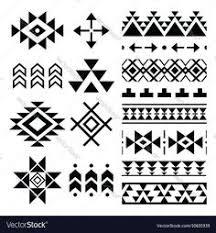 Navajo Pattern Delectable Navajo Four Corners Stencil Tatoo Ideas Pinte