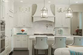 Beautiful Kitchen Features A Pair Of Round Edwardian Lanterns Illuminating  An Off White Kitchen Island Fitted