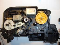 diy rear door lock actuator repair i pics locking rod module spring in place