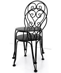french wrought iron ice cream chairs stacked