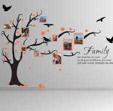 inspiring family tree wall decal colors trend 2016