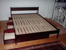 Queen Platform Bed Frame With Drawers Queen Bed With Drawers Queen