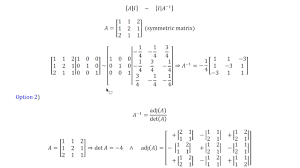 two ways to find the inverse of a 3x3 matrix and solving a system of equations