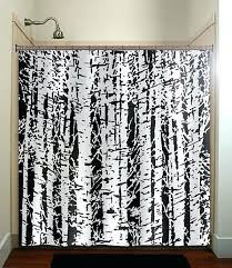 shower curtain tree forest woodland white birch trees shower curtain bathroom decor fabric kids bath white