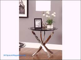 glass table top beveled edge awesome elliptic chrome end table