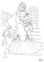 Small Picture Princess in a Wedding Dress coloring page Free Printable