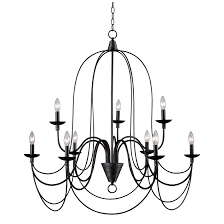 chandeliers franklin iron works oil rubbed bronze ribbon