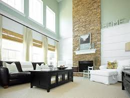 Light Living Room Light Living Room With Tall Stacked Stone Fireplace Living Room