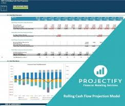12 Month Cash Flow Rolling Cash Flow Projection Excel Model