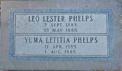 Leo Lester Phelps (1883-1885) - Find A Grave Memorial
