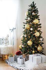 christmas trees for small spaces. Wonderful Small Skinny Christmas Tree With Large Gold Ornaments Great For Big Impact In A Small  Space Intended Trees For Small Spaces