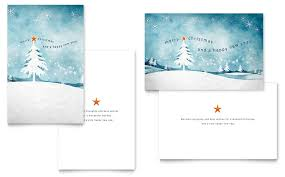 Winter Landscape Greeting Card Template - Word & Publisher