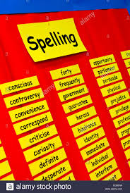 Primary School Spelling Wall Chart With Words Spelt Out For